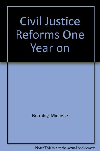 9780406931535: Civil Justice Reforms One Year on