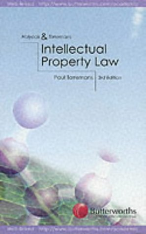 Intellectual Property Law: Torremans, Paul; Holyoak, J. H.