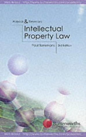 9780406934000: Holyoak and Torremans Intellectual Property Law (Butterworths student statutes series)