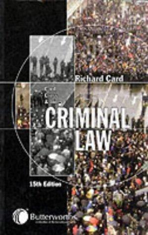 9780406934017: Card, Cross and Jones: Criminal Law
