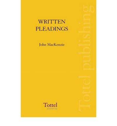 9780406938091: Written Pleadings