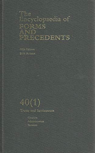 9780406941398: The Encyclopaedia of Forms and Precedents