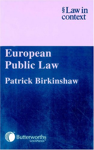 9780406942883: European Public Law (Law in Context)