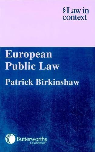 9780406942883: European Public Law (Law in Context)