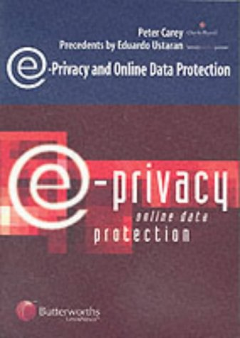 9780406945884: E-privacy and Online Data Protection