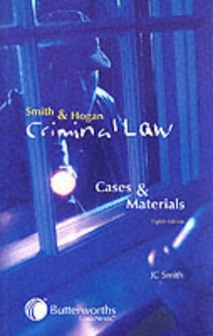 9780406948007: Smith & Hogan Criminal Law: Cases and Materials