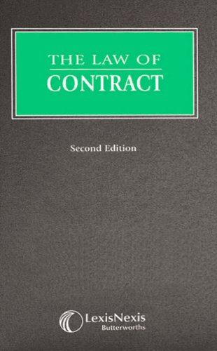 9780406949868: The Law of Contract (Butterworths Common Law)