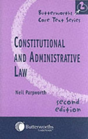 9780406950017: Constitutional and Administrative Law (Butterworths Core Texts)