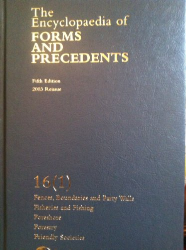 9780406956668: Encyclopaedia of Forms and Precedents