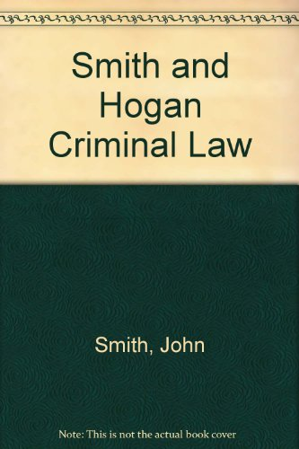 9780406957412: Smith and Hogan Criminal Law