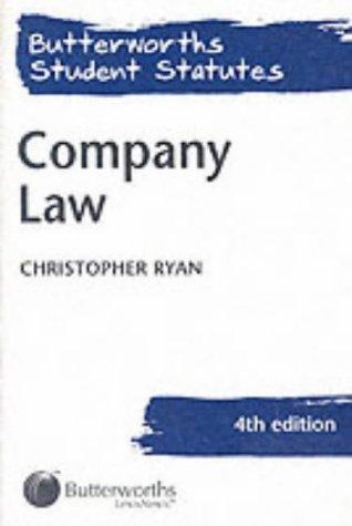 9780406959430: Company Law (Butterworths Student Statutes)