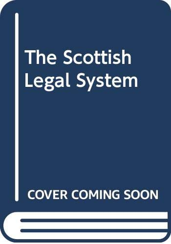 9780406959621: The Scottish Legal System: 3rd Edition
