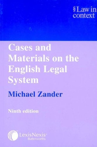 9780406963802: Cases and Materials on the English Legal System (Law in Context)