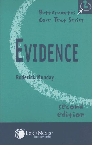 9780406964038: Evidence (Core Text Series)
