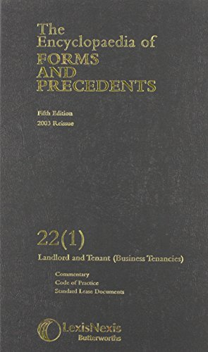 The encyclopaedia of forms and precedents, fourth edition. Volume.