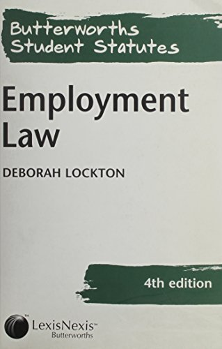 9780406966490: Employment Law (Butterworths student statutes series)