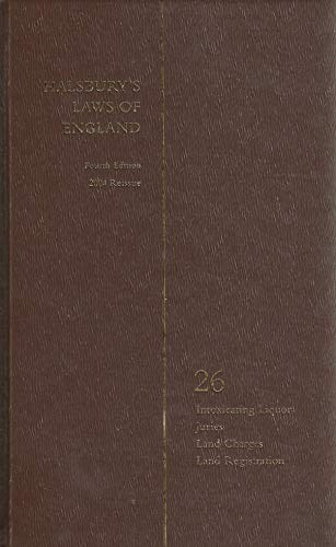 9780406967961: Halsbury's Laws of England: Fourth Edition 2004 Reissue: Volume 26