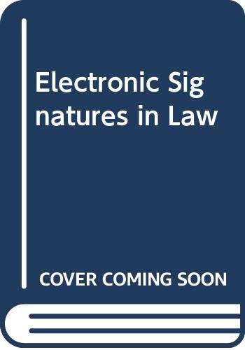 9780406970060: Electronic Signatures in Law