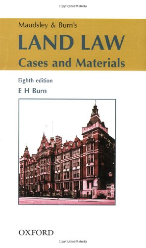 9780406971371: Maudsley and Burn's Land Law: Cases and Materials