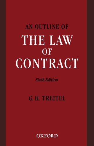 9780406972682: An Outline of the Law of Contract