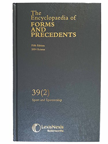 Encyclopaedia of Forms and Precedents: Sport &: Lord Millet