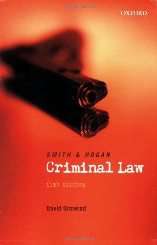 9780406977304: Smith and Hogan Criminal Law