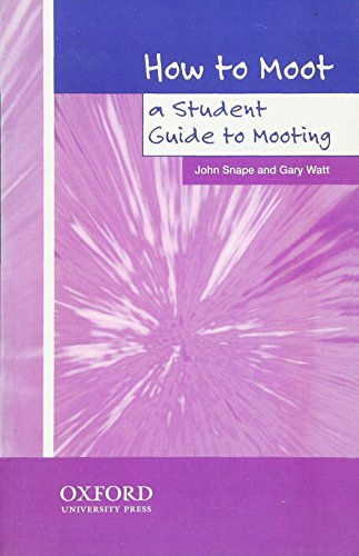 9780406979513: How to Moot: A Student Guide to Mooting