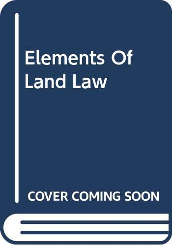 9780406983022: Elements of Land Law