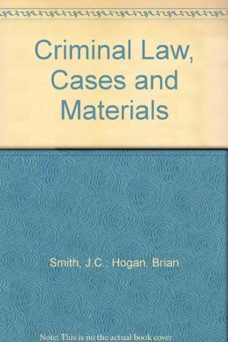 9780406983848: Criminal Law: Cases and Materials
