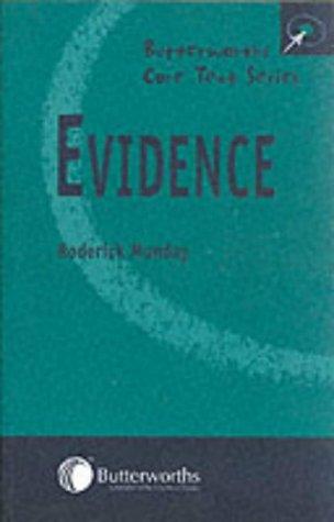 9780406985705: Evidence (Butterworths Core Texts)