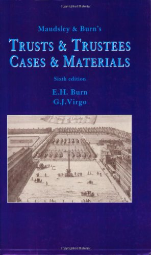 9780406985866: Maudsley and Burn's Trusts and Trustees: Cases and Materials
