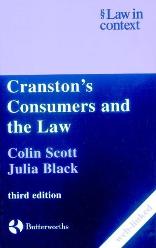 9780406988027: Cranston's Consumers and the Law (Law in Context)