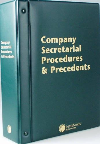 9780406996459: Butterworths Company Secretarial Procedures and Precedents: (Pay-In-Advance Subscription)
