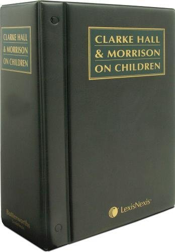 9780406996626: Clarke Hall and Morrison on Children