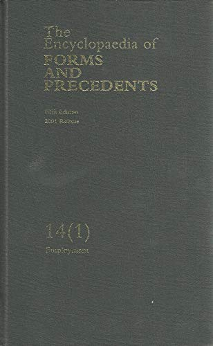 9780406997999: The Encyclopaedia of Forms and Precedents