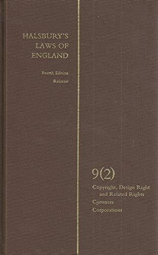 9780406999467: Halsbury's Laws of England 4th Edition Volume 9 (2)