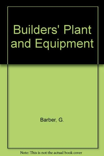 9780408000925: Builders' Plant and Equipment