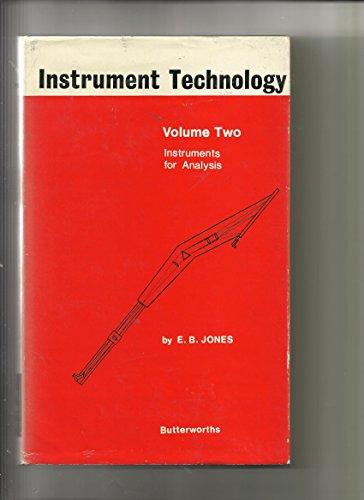Instrument Technology: Analysis Instruments v. 2: Jones, E.B.
