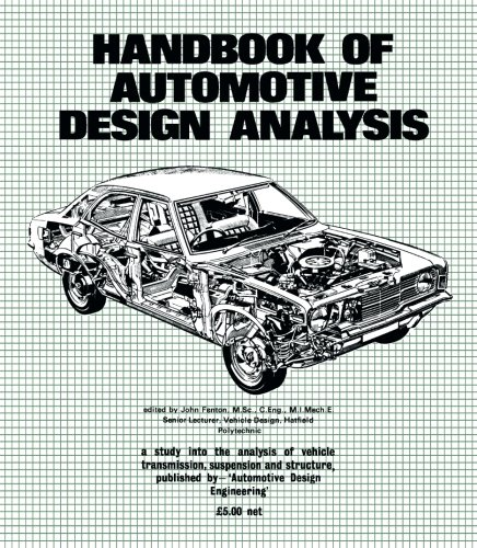 9780408002417: Handbook of Automotive Design Analysis