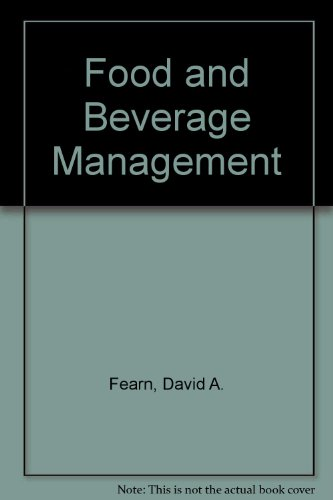 9780408007603: Food and Beverage Management