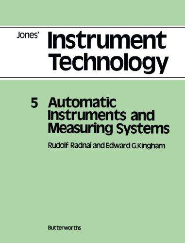 Automatic Instruments and Measuring Systems: Jones' Instrument: Radnai, Rudolf