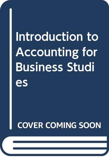 9780408015424: Introduction to accounting for business studies