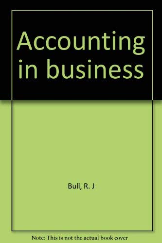 Accounting in business: R. J Bull