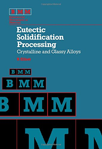 9780408107143: Eutectic Solidification Processing: Crystalline and Glassy Alloys (Butterworths monographs in metals)