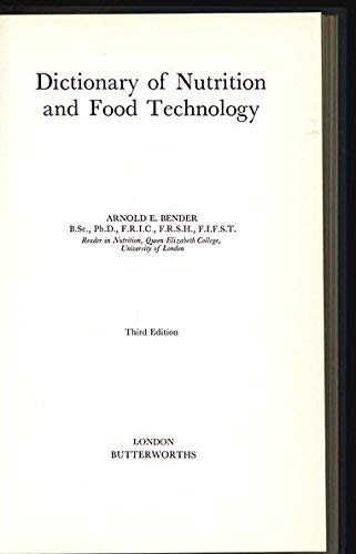9780408175715: Dictionary of Nutrition and Food Technology