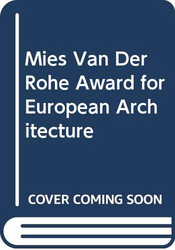 9780408500845: Mies Van Der Rohe Award for European Architecture