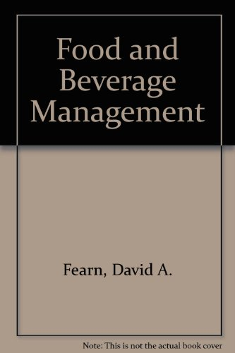 9780408701587: Food and Beverage Management
