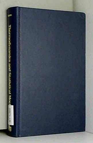 9780408701792: Thermodynamics and Statistical Mechanics