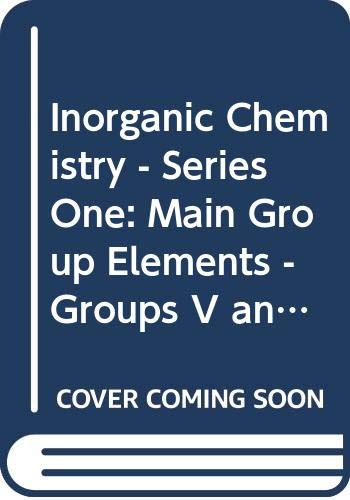 Inorganic Chemistry: Series One Volume 2: Addison, C C