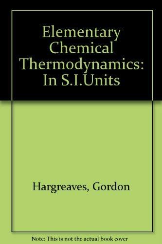 Download e-book Elementary Chemical Thermodynamics (Dover Books on